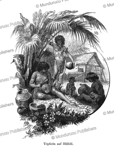 Women making pottery on Bil Bil Island, Papua New Guinea, Otto Finsch, 1879 | Photos and Images | Travel