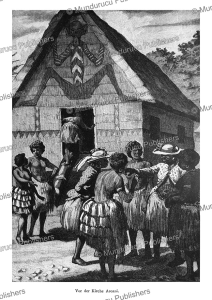 Tattooed women In front of the church of Aroani (Killerton Islands), Papua New Guinea, Otto Finsch, 1879 | Photos and Images | Travel