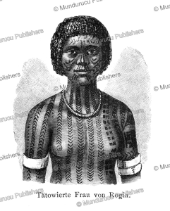 Tattooed woman from Rogia (Kakolan Island), Papua New Guinea, Otto Finsch, 1879 | Photos and Images | Travel