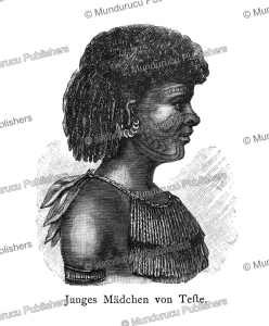 Young girl with face tattoo from Tefte Island (Wari Island), Papua New Guinea, Otto Finsch, 1879 | Photos and Images | Travel