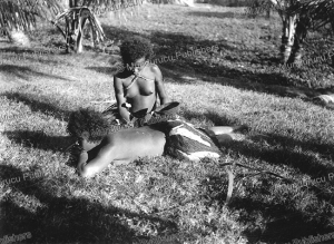 Koita (Hula) women tattooing one another, Papua New Guinea, A. Wilkin, 1898 | Photos and Images | Travel