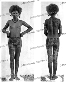 tattooed koita girl, papua new guinea, c.g. seligmann, 1910