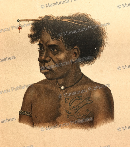 Papua of Kurudu Island with decorative chest tattoos, Papua New Guinea, F. W. van der Waarde, 1893 | Photos and Images | Travel