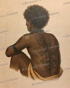 Papua of Kurudu Island with decorative tattoos on his back, Papua New Guinea, F. W. van der Waarde, 1893 | Photos and Images | Travel