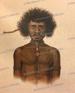 papua of dorey harbour with decorative chest tattoos (pa), papua new guinea, f. w. van der waarde, 1893