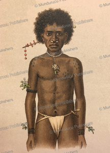 Papua from Winde´si with decorative tattoos (toi), Papua New Guinea, F. W. van der Waarde, 1893 | Photos and Images | Travel