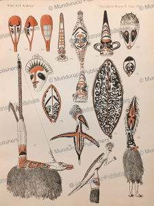 masks, gulf district, papua new guinea, a.c. haddon, 1894