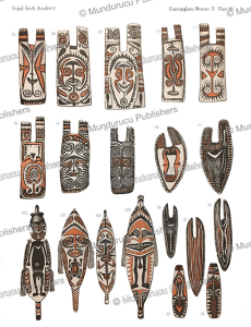 decorated shields, gulf district, papua new guinea, a.c. haddon, 1894