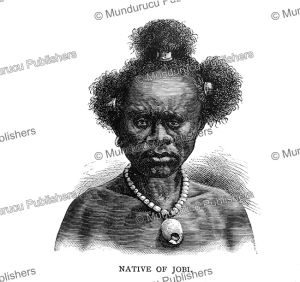 native of the island jobi (yapen), papua new guinea, edward whymper, 1889