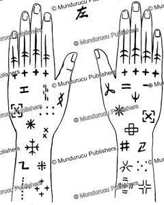 hand tattoo pattern for women from miyoko island, ryukyu islands, william furness, 1899