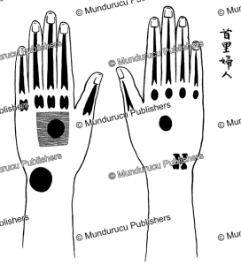 hand tattoo pattern for women from naha, ryukyu islands, edmund m.h. simon, 1913