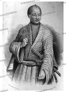 gentleman of japan with samurai swords, arthur adams, 1848