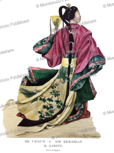 wife of the shogun, japan, j. erxleben, 1825