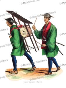 japanese infantry musicians, c.l., 1843