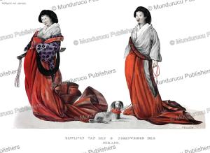 concubines of the emperor, japan, j. erxleben, 1825