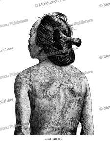 A beautifully tattooed Japanese Betto (courier or horse boy), Edmond Cotteau, 1884 | Photos and Images | Travel