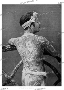 An elaborately tattooed Japanese man, H.N. Hutchinson, 1900 | Photos and Images | Travel
