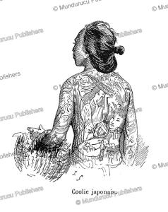 tattooed japanese coolie, p. sellier, 1894