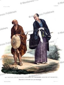 japanese of distinction with his servant, j. erxleben, 1825