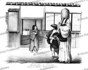 pilgrims, japan, j. erxleben, 1832