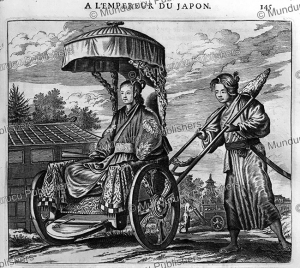 the rich carriage of taiko¯sama (court) lady-in-waiting, arnoldus montanus, 1670