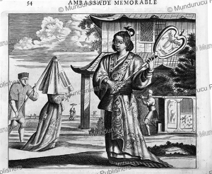 Japanese lady walking, Arnoldus Montanus, 1670 | Photos and Images | Travel