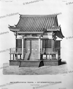 buddhist temple, japan, l. nader, 1825