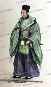 buddhist priest (kanuzi), japan, von siebold, 1825