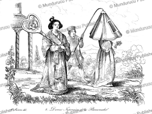 Japanese lady walkong, Louis Auguste de Sainson, 1839 | Photos and Images | Travel