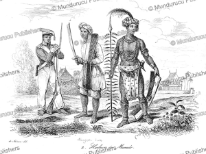 alfur warrior of manado, celebes, louis auguste de sainson, 1839