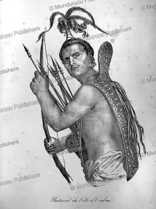 Warrior of Ombai, now Alor near Timor, Jacques Etienne Victor Arago, 1828 | Photos and Images | Travel