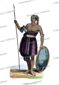 warrior of savu, timor, descamps, 1843