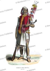 warrior of timor, adolphe franc¸ois pannemaker, 1844