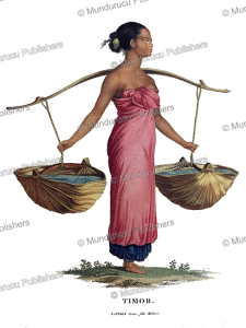 canda, a young malay girl carrying water, timor, nicolas-martin petit, 1824