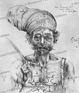 Alune man with Kakihan (headhunting) marks, Ceram, Moluccas, A. Hahn, 1937 | Photos and Images | Travel