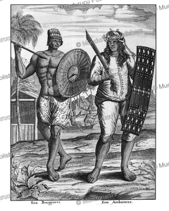 warriors of ambon and celebes, francois valentyn, 1726
