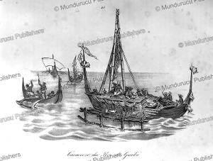 caraccore of the king of gue´be´, moluccas, jacques arago, 1839