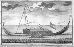 The coracora boat of Titaway of Ambon, Moluccas, F. Ottens, 1726 | Photos and Images | Travel