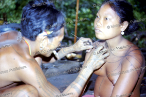 Tattooing the chest of a Mentawai girl, Reimar Schefold, 1982 | Photos and Images | Travel
