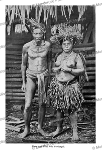 tattooed couple of north pagai island, mentawai, c.m. pleyte, 1901