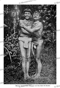 tattooed men of south pagai island, mentawai, c.m. pleyte, 1901