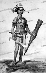 mentawai warrior, c.b.h. von rosenberg, 1847