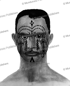 Tattooed face of a Mentawai man, G. Verzijl, 1933 | Photos and Images | Travel