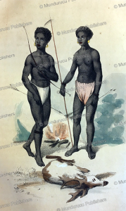 ahetas, negritos of luzon, philippines, from the natural history of man, james cowles prichard, 1848