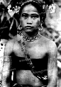tattooed igorot woman, philip the north, 1953