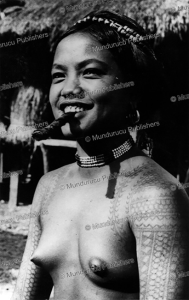 tattooed gril of the philippine islands, 1954