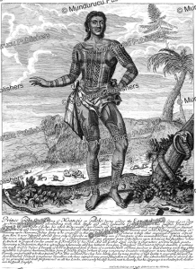 prince giolo, son of the king of moangis or gilolo, philippine islands, john savage, 1692