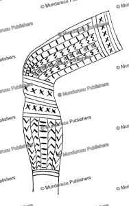 banao male leg tattoo pattern, philipines