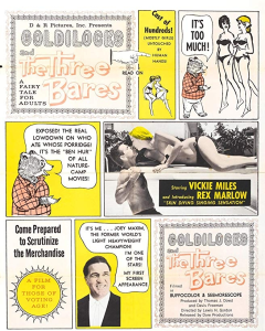 goldilocks and the three bares nudie cutie movie. normal, 3d stereoscopic & side by side