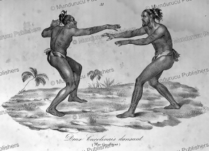 Two dancing natives of the Caroline Islands, Jacques Arago, 1820 | Photos and Images | Travel